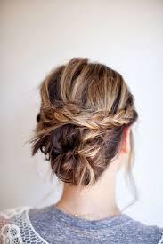Coiffure Cheveux Mi Longs En Chignon Tressé Automne Hiver