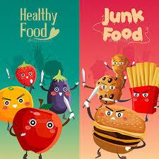 junk food vs healthy food. Plain Food Healthy Food Versus Unhealthy  Objects Intended Junk Vs S