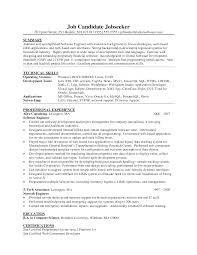 Pleasing It Developer Resume Examples For Your Summary Software Of