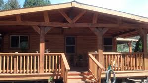 Mobile Home Log Cabins Double Wide Mobile Homes Log Cabin Cedar Siding Deck Fuller Uber