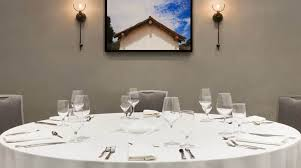 private dining room with roundtable