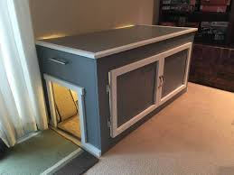 Image Furniture We Built Litter Box Enclosure For Our Cats Album On Imgur Pinterest Litter Box Enclosure Wood Pinterest Litter Box Enclosure Diy