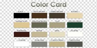 Gutters Color Chart Material Fascia Colorful Card
