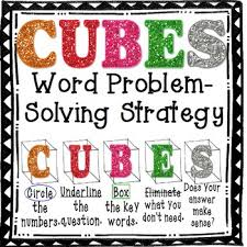 cubes is a word problems solving strategy used to help photo math problem solver solve math problems and math images