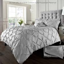 alford duvet cover with pillowcase quilt cover bedding set silver king co uk kitchen home