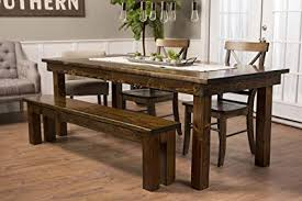 james james solid wood farmhouse dining table 120 x 44