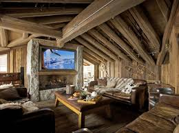 Small Picture A very warm and cozy post and beam living room Interesting