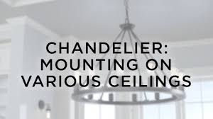 chandelier mounting for various ceilings lamps plus