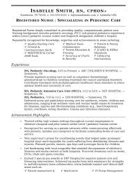 Nursery Nurse Sample Resume Amazing Objective In Resume For Nurse Images Best Examples And 10