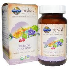 garden of life mykind organics prenatal once daily 90 vegan tablets