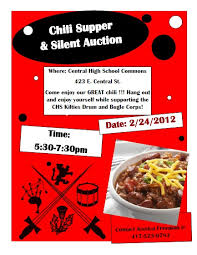 chili supper flyer fundraiser with kiltie love