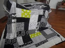 need pattern idea for a Black and White quilt w/ one other color ... & need pattern idea for a Black and White quilt w/ one other color for  accent. - Quilters Club of America Adamdwight.com