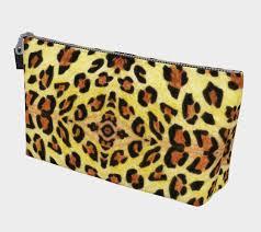 leopard print makeup bag 3d preview