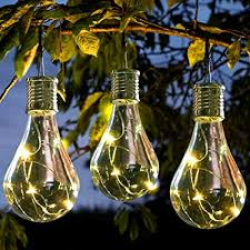 hanging solar patio lights. Wonderful Solar Osierr6 Hanging Solar Light Bulb Backyard Patio Lights IndoorOutdoor  Camping Waterproof String To L