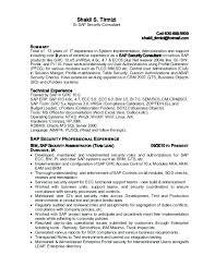 sap bw resume samples sap bw sample resume free download sap security resume resume ideas