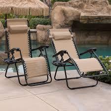 Patio Recliner Chairs 2 Outdoor Zero Gravity Lounge Chair Beach Patio Pool Yard Folding