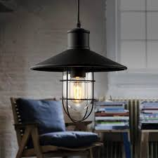 pendant lighting rustic. black rustic pendant lights vintage industrial lamp led light birdcage lamps warehouse lighting kitchenin from