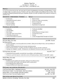 Accounting Bookkeeper Sample Resume
