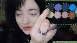 image led apply goth makeup step 5