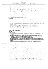 Workforce Coordinator Resume Samples Velvet Jobs