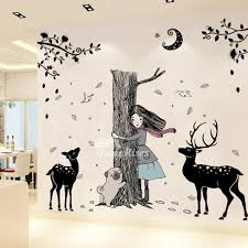 girls wall stickers animal deer