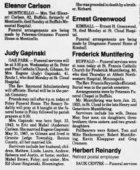 Judy Carlson Gapinski Obituary - Newspapers.com