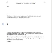 Employee Warning Letters Template Employee Warning Letter Template