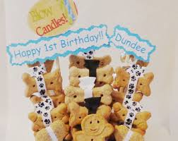 gifts for pet lovers. Dog Birthday Treat Gift Basket-gift For Birthday- Lovers- Gifts Pet Lovers O