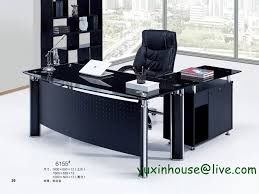glass office furniture. Tempered-glass-office-desk-boss-desk-table-commercial- Glass Office Furniture N