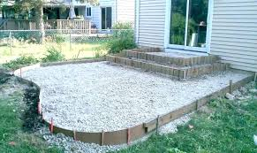 concrete patio cost stamped ideas backyard diy design