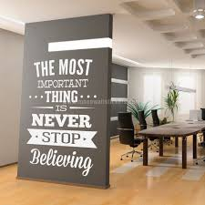 office wall stickers. Never Stop Believing Wall Sticker Office Stickers L