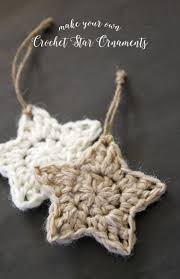 Crochet Star Pattern Simple Crochet Stars Free Ornament Pattern Holiday Christmas