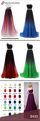 Prom Dress Color Chart Coming Soon Chiffon Gradient Prom Dress Colors Multicolor