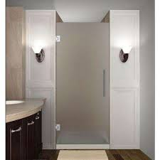 opaque single shower doors. Cascadia 31 In. X 72 Completely Frameless Hinged Shower Door With Frosted Glass Opaque Single Doors A