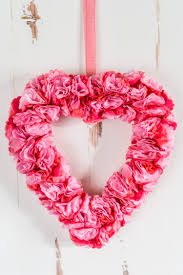 this beautiful tissue paper valentine s day wreath is deceptively simple to make this easy paper