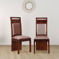 Image Chair Set Buy Cleo Solid Wood Dining Chair Set Of Two In Nut Brown Colour By Hometown Online At Best Price Hometownin Hometownin Buy Cleo Solid Wood Dining Chair Set Of Two In Nut Brown Colour By