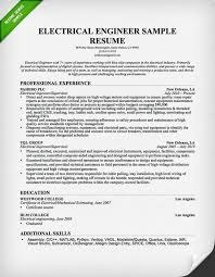 Electrical Engineer Resume Sample 2015