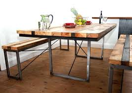 decorating marvelous rustic wood and metal dining table fascinating chairs of trend reclaimed round m