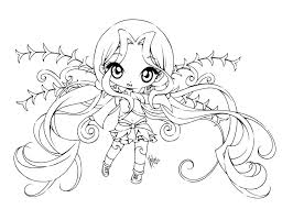 Coloring Pages Cute Chibi Girl Coloring Pages Girls Drawing At