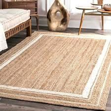 jute rugs area braided natural rug furniture excellent fiber border off white amp natura