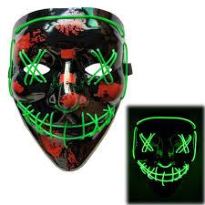Led Light Up Mask Amazon Amazon Com Scary Halloween Mask Led Light Up Mask Cosplay