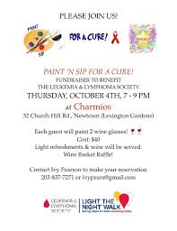 Oct 4 | Paint 'N Sip For A Cure | Newtown, CT Patch