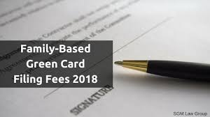 Green Card Office Family Based Green Card Filing Fees 2018 Cost Increase