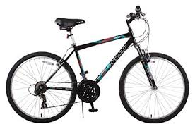 an trail 21 sd suspension men s mountain bike 18 inch frame black
