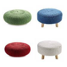 footstool and poufe from aldi