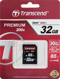 <b>Transcend</b> SDHC Class 10 32GB <b>карта памяти</b> — купить в ...