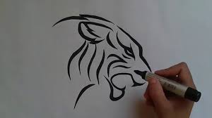 baby tiger drawing tattoo. Modren Baby How To Draw Tiger Tattoo     YouTube And Baby Tiger Drawing Tattoo W