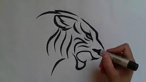 How To Draw Tiger Tattooطرسقة رسم نمر وشم