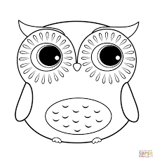 Free Printable Cute Owl Coloring Pages With Easy Page And Gamz Me