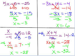 2 step equations worksheets 7th grade